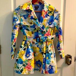 Polo Ralph Lauren girls floral trench rain coat size 10